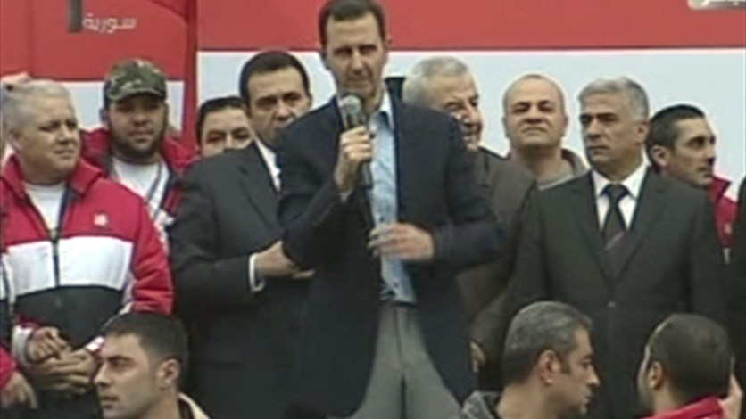 Assad to cheering crowd: We will beat the conspiracy