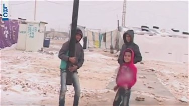 REPORT: Syrian refugees battle snow storm in Lebanon
