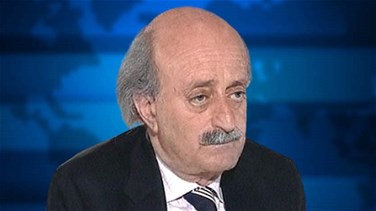 Jumblatt receives phone call from Aoun