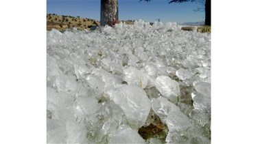 [PHOTO] Ice forms in Donniyeh due to significant drop in temperatures