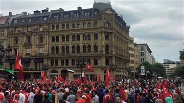Thousands of Kurds protest against Turkey's Erdogan in Frankfurt