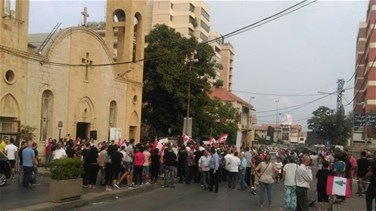 Antelias residents stage sit-in to protest against L2 project