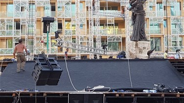 Victory ceremony postponed; stage and equipment removed from Martyrs' Square