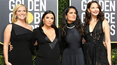 [PHOTOS] Stars Wear Black In Solidarity With Sexual Assault Victims To The Golden Globes Red Carpet