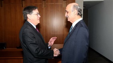 Geagea meets with Satterfield, calls for preserving all national rights