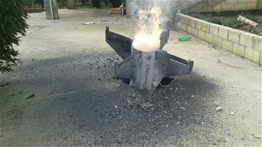 [PHOTOS] Anti-aircraft missile lands in Wadi al-Hasbani