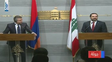 REPORT: Armenian PM tours Lebanese officials