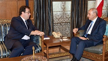 Speaker Berri meets French ambassador