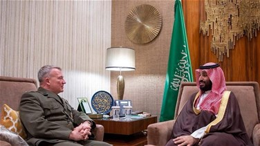 Saudi Crown Prince meets commander of US Central Command -report