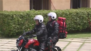 "Civil Defense holds live maneuver during launch of ""Moto Ambulance"" project (Video)"