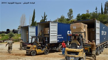 Lebanese army receives shipment of defensive barriers from US