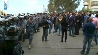 New scuffle as Mansourieh residents hold fresh protest over power lines