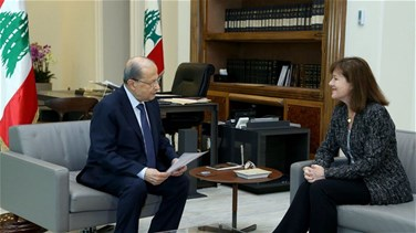 President Aoun meets with US Ambassador to Lebanon