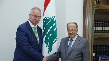 President Aoun meets with Hungarian justice minister, French MP