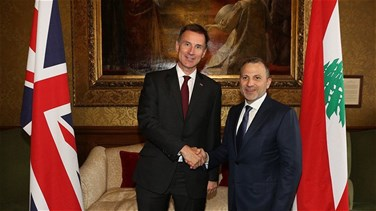 Bassil meets with British counterpart, tackles bilateral ties and means to boost them