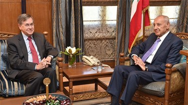 Satterfield holds talks with Berri in Ain al-Tineh