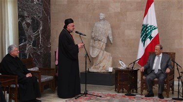 President Aoun meets with president of Maronite diocese in Cyprus