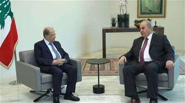 President Aoun says Lebanon keen on boosting cooperation with Iraq