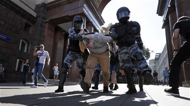 Russian police detain more than 300 opposition protesters in Moscow
