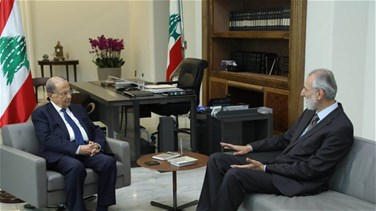 President Aoun meets with former minister Shamesddine and Qortbawi