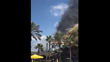 Huge fire breaks out at C Flow beach resort in Jbeil (Photos & Video)