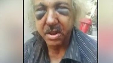 Old homeless man brutally beaten in Beirut-[VIDEO]