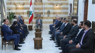 President Aoun meets with Iraqi health minister
