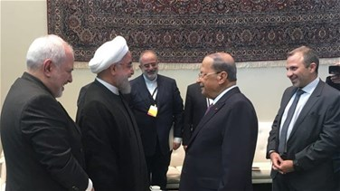 Aoun meets Rouhani in New York