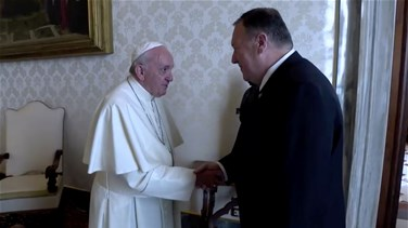 US's Pompeo, Pope Francis urge religious freedom in Mideast, elsewhere