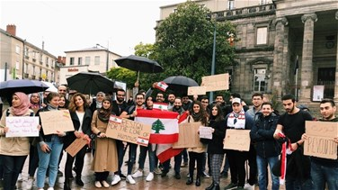 Lebanese expatriates send message of solidaity to Lebanon from France's Limoges-[VIDEOS+PHOTOS]