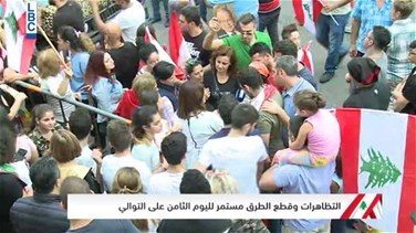 FPM supporters protesting in Baabda react the President Aoun's speech (Video)