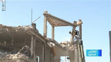 Army removes parts of a damaged building at Beirut port-[VIDEO]