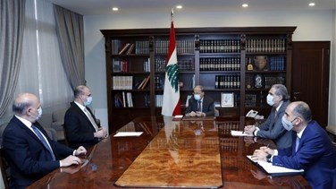 President Aoun meets with Caretaker Minister Hassan